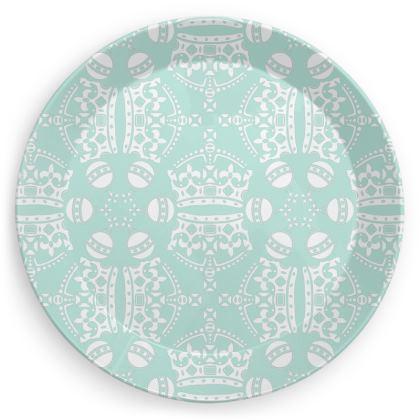 Mint Crown Orb Plate