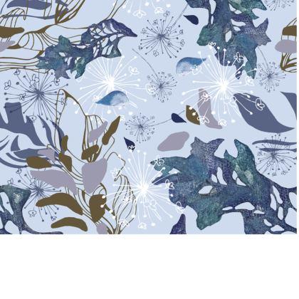Blue Herbarium Travel Wallet