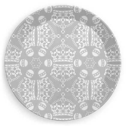 Grey Crown Orb Plate