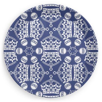 Blue Crown Orb Plate