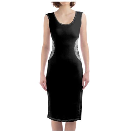 Half Moon Black Bodycon Dress