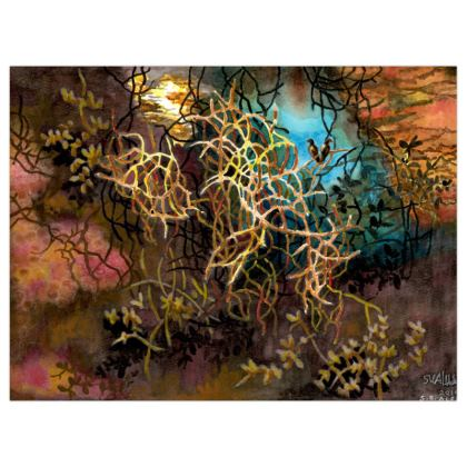 Poster Print (+A3 size) : Title Wild Garden : Psychedelic : Oriental : Far Eastern : Mystical