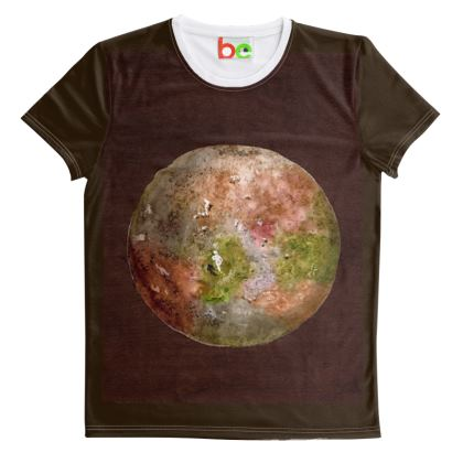 Cut And Sew All Over Print T Shirt : Title Aspera Malum (Apple Planet) : Venus : Planets : Outer Space