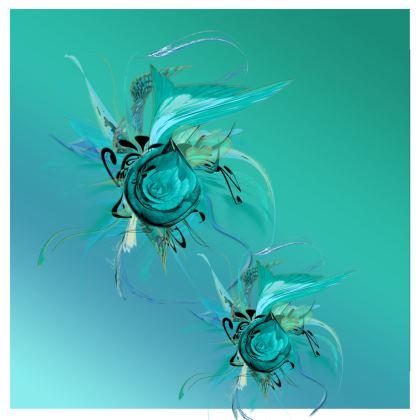 Kimono - Turquoise on Turquoise