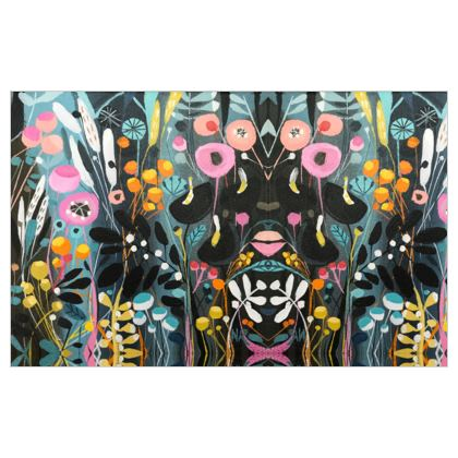 Fabric Printing in Wild Flowers design by Natalie Rymer
