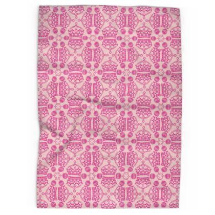 Pink Crown Orb Tea Towel