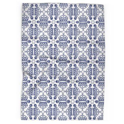 Blue Crown Orb Tea Towel