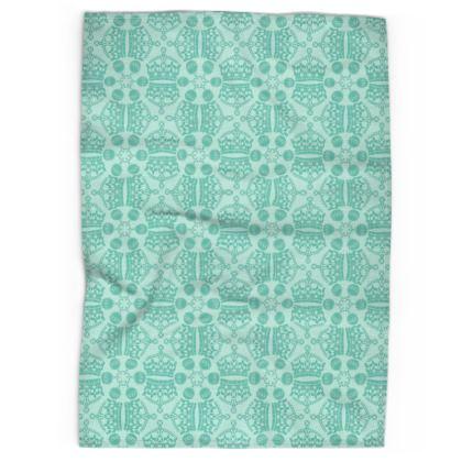 Mint Crown Orb Tea Towel