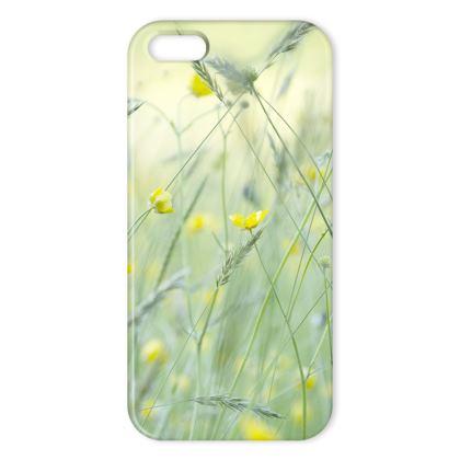iPhone case in Buttercup Meadow Flower Design.