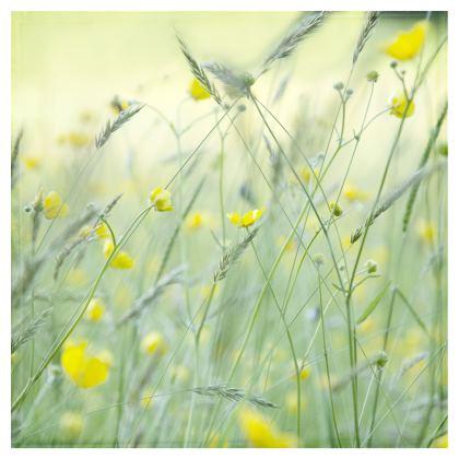 Folding Stool Chair in Buttercup Meadow Flower Design