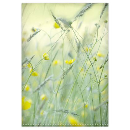 Duvet Cover in Buttercup Meadow Flower Design