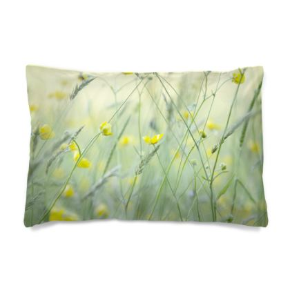 Pillow Case in Buttercup Meadow Flower Design.