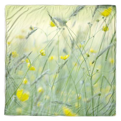 Throw in Buttercup Meadow Flower Design.