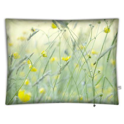 Floor Cushions in Buttercup Meadow Flower Design.