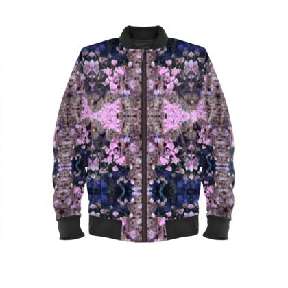 Pink Drop Ladies Bomber Jacket