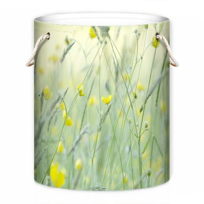 Laundry Bag in Buttercup Meadow Flower Design.