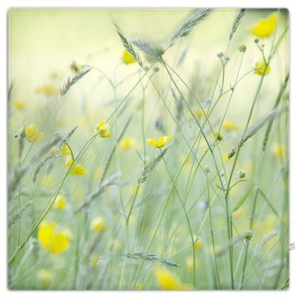 Picnic Blanket in Buttercup Meadow Flower Design.