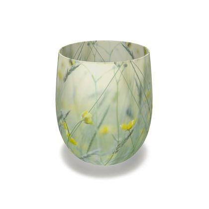 Water Glassin Buttercup Meadow Flower Design.