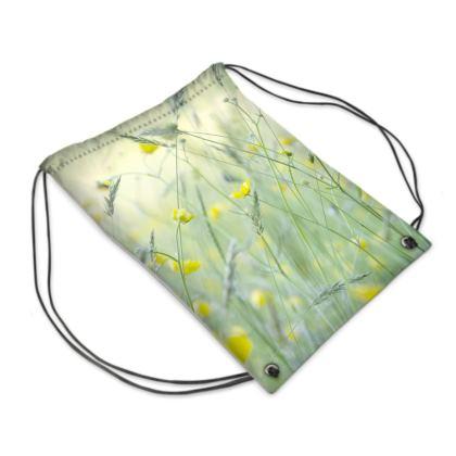 Swim Bag in Buttercup Meadow Flower Design