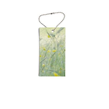 Leather Swing Tags in Buttercup Meadow Flower Design