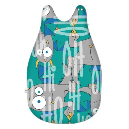"""Leo, """" OH Oh Hi"""" Slogan, Green Monster Baby Sleeping Bag Designed by Spoilt By Jade"""