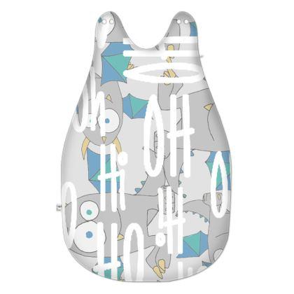 "Leo, ""OH Oh Hi"" Slogan, Grey Monster Baby Sleeping Bag Designed by Spoilt By Jade"
