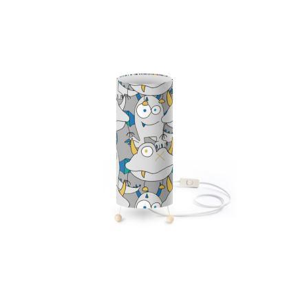 Leo Grey On Grey Monster Children's Bedroom Standing Lamp Designed by Spoilt By Jade