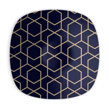 Geometric print Ornamental Bowl