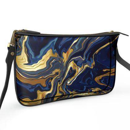 Pochette Double Zip Bag Indigo Ocean