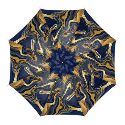 Umbrella Indigo Ocean