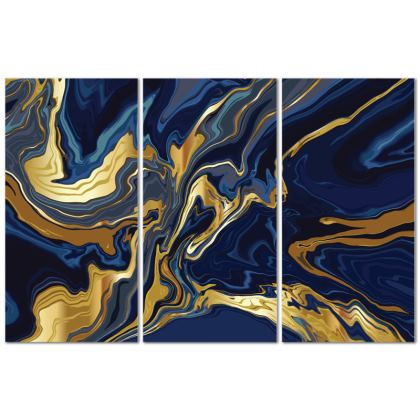 Triptych 3 panel Canvas Indigo Ocean
