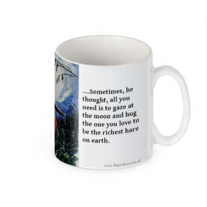 'Moon Gazing'  Jack Hare story mug