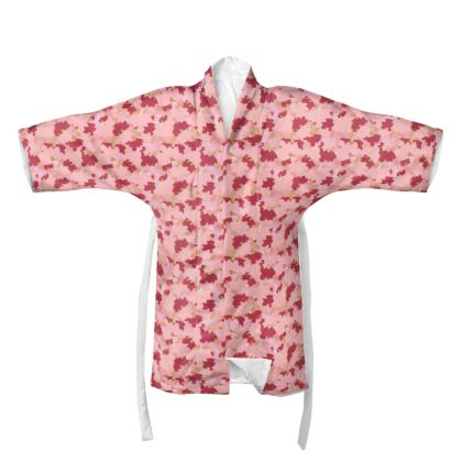 Kimono Oriental Leaves Fruit Smoothie