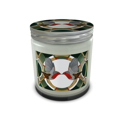 Two Robins Scented Candle Jar