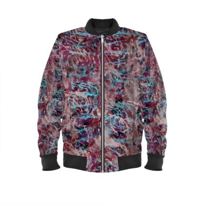 Ladies Bomber Jacket Watercolor Texture 16