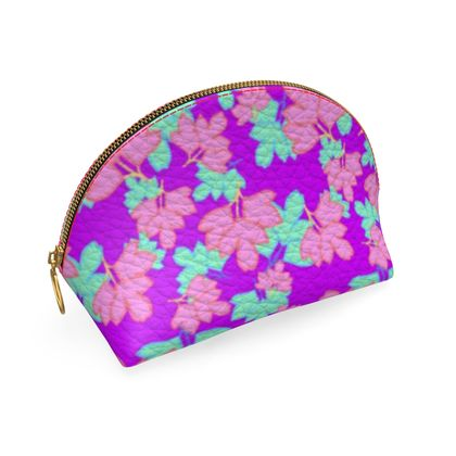 Shell Coin Purse  Oriental Leaves  Passion
