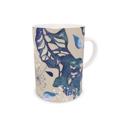 Blue Herbarium Mug
