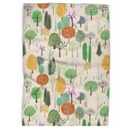 Winter Forest Tea Towel