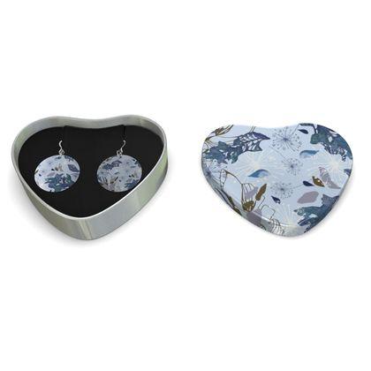 Blue Herbarium Silver Earrings