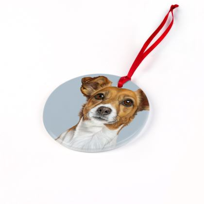 Jack Russell Terrier Christmas Ornament