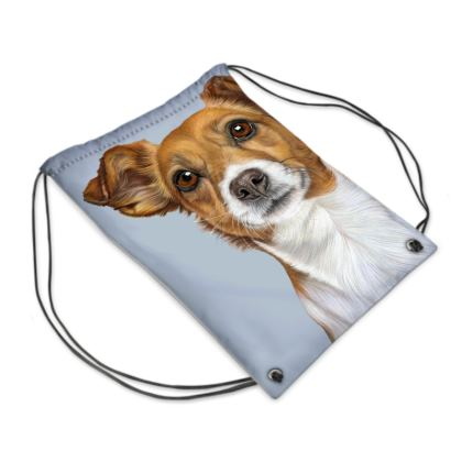 Jack Russell Terrier Drawstring PE Bag