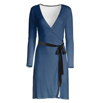Wrap Dress, Deep Blue Sea