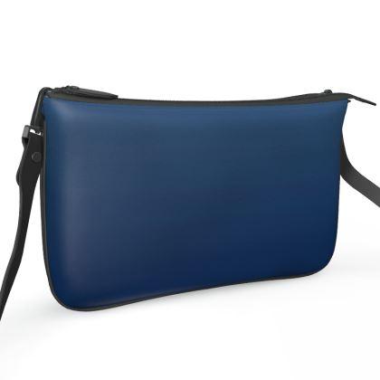 Pochette Double Zip Bag, Deep Blue Sea