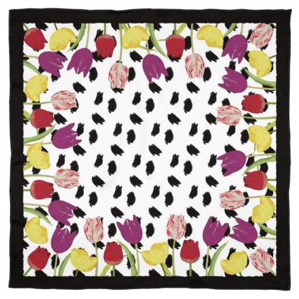 Blooming tulips scarf