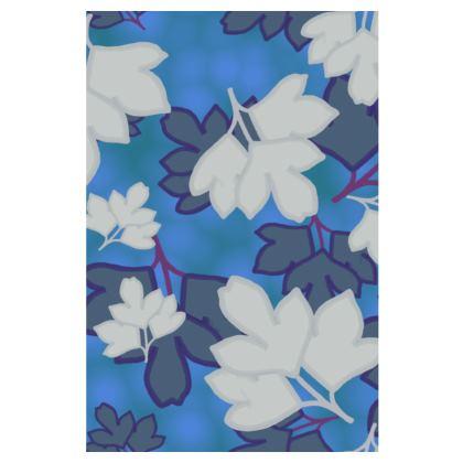 Mens Swimming Shorts  Oriental Leaves  Blue Stream