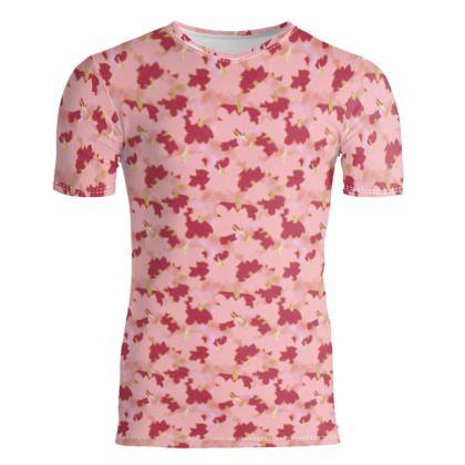 Slim Fit Mens T-Shirt  Oriental Leaves  Fruit Smoothie