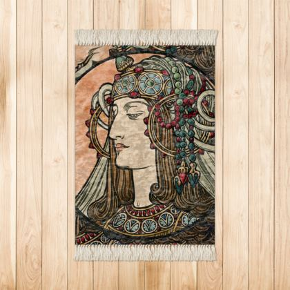 Small Rug (90x63cm) - Alphonse Maria Mucha Stained Glass #4