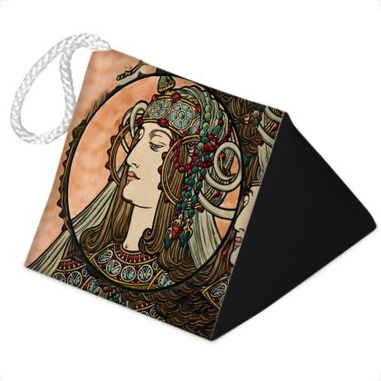 Door Stopper - Alphonse Maria Mucha Stained Glass #4