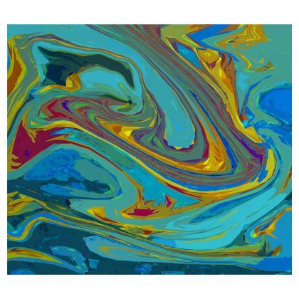 Zip Top Handbag - Abstract Diesel Rainbow 1