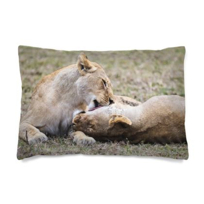 Lion Cubs Playing Pillow Case